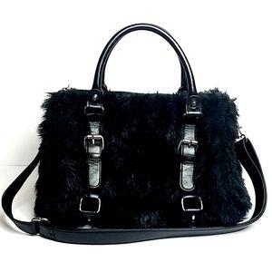 Express - Faux Fur Bowler Bag.